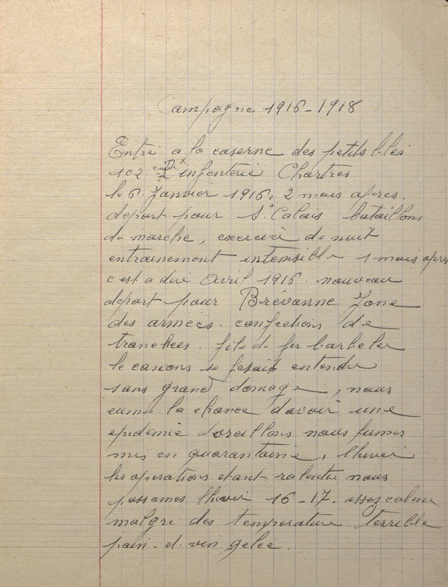 Picture of page 5 of diary