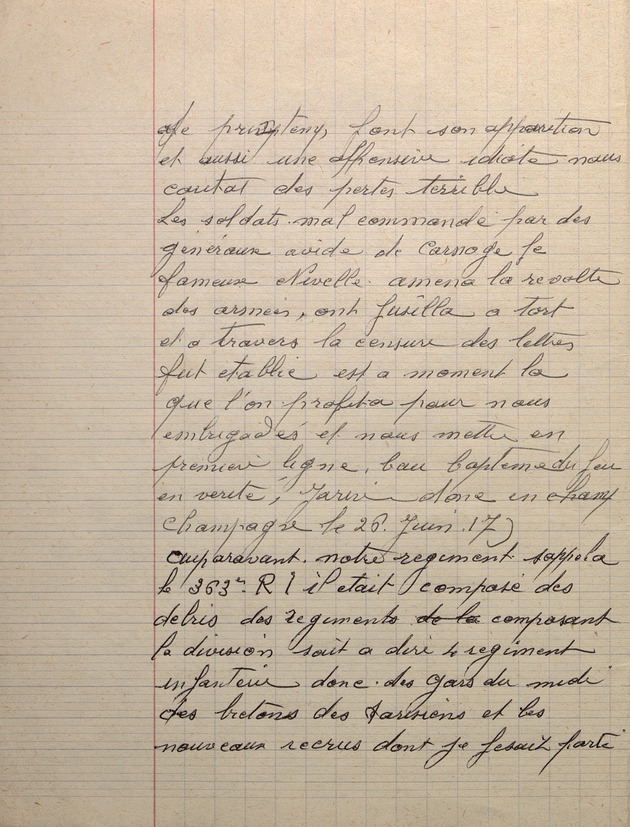 Picture of page 6 of the diary