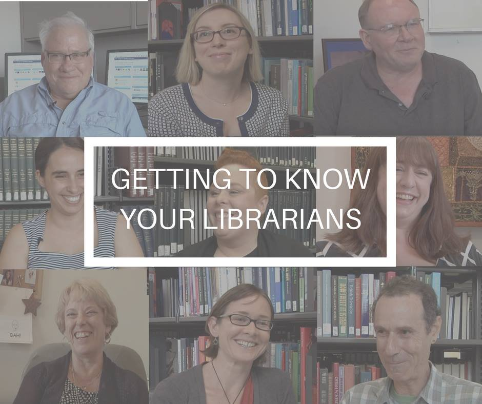 Image including different thumbnails from each librarian's videos.