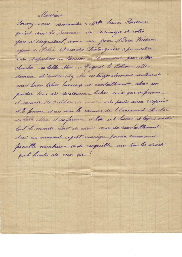 Denunciation Letter written in 1944
