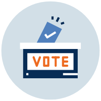 This image represent a voting box where someone is casting a ballot.